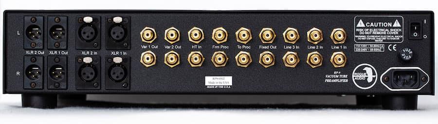 Rogue Audio RP-9 Preamplifier Rear