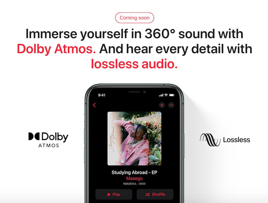 Apple Music in Dolby Atmos and Lossless Audio Coming Soon