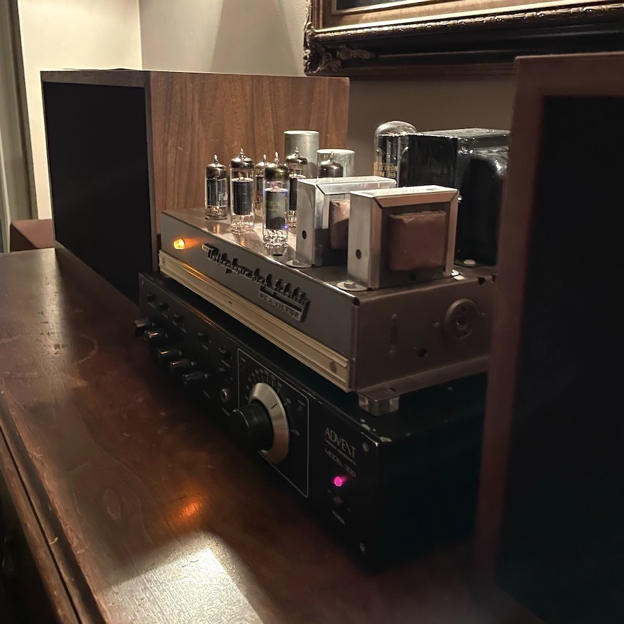 Advent Model 300 and RCA Victor Tube Amplifier
