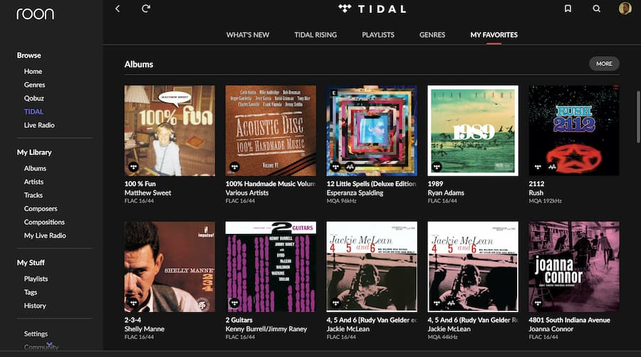 Roon with TIDAL