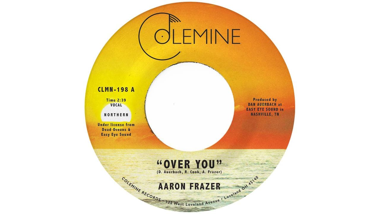 Aaron Frazer Over You 45 RPM Record
