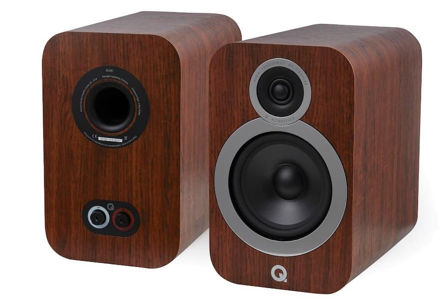 Q Acoustics 3030i Bookshelf Speaker in walnut