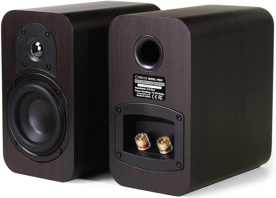 Micca RB42 Bookshelf Speakers Angle