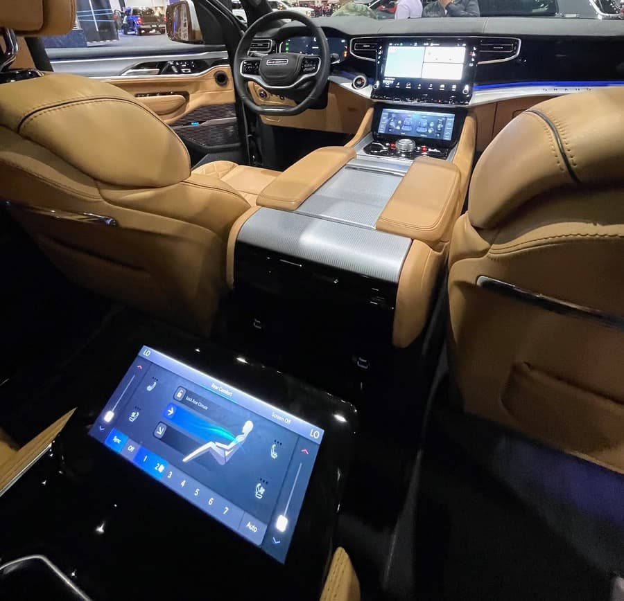 McIntosh MX1375 Car Audio System in 2022 Jeep Grand Wagoneer, view from backseat