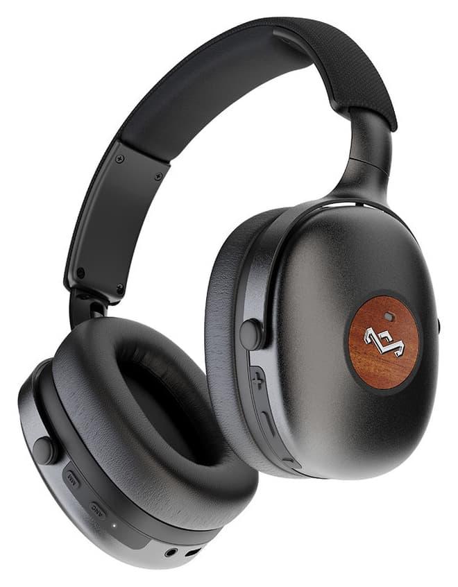 House of Marley Positive Vibration XL ANC Headphones Black Controls Bottom