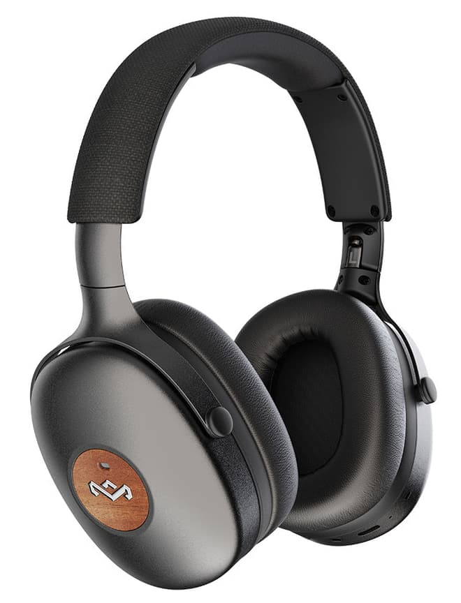 House of Marley Positive Vibration XL ANC Headphones Black Upright