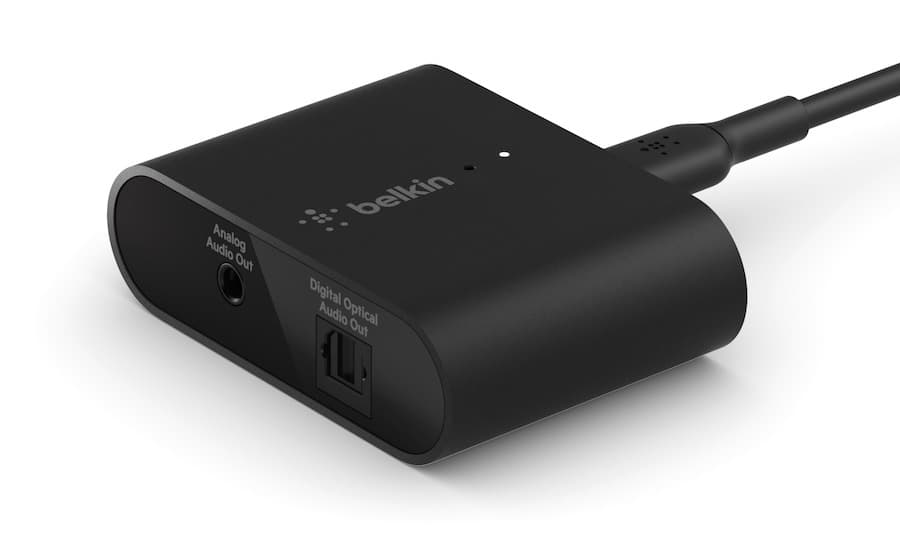Belkin SOUNDFORM Connect Audio Adapter with AirPlay 2 Angle View