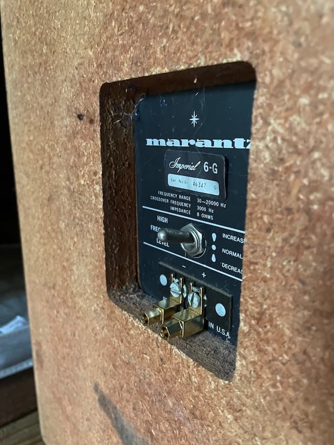 Marantz Imperial 6-g Loudspeaker Rear