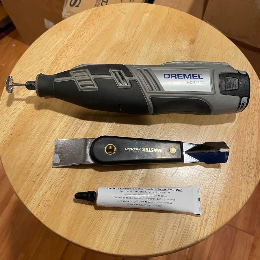 Speaker repair tools