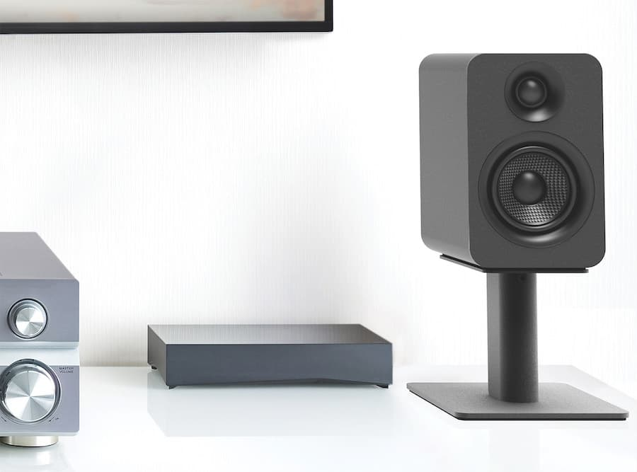 Kanto YU 4 Passive Speaker on table-top stand