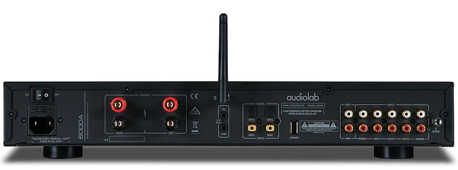 Audiolab 6000A Integrate Amplifier Rear Black