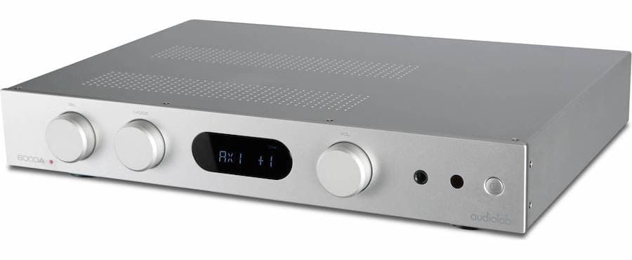 Audiolab 6000A Integrate Amplifier Silver Angle