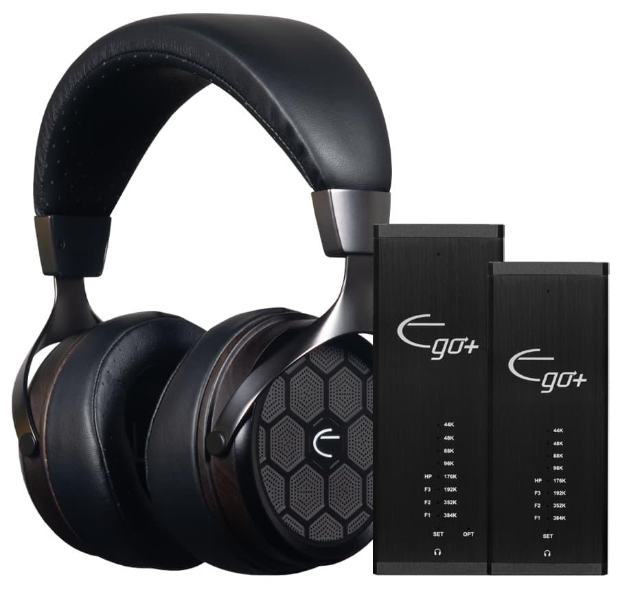 Emotiva Big and Little Ego+ DACs with Headphones