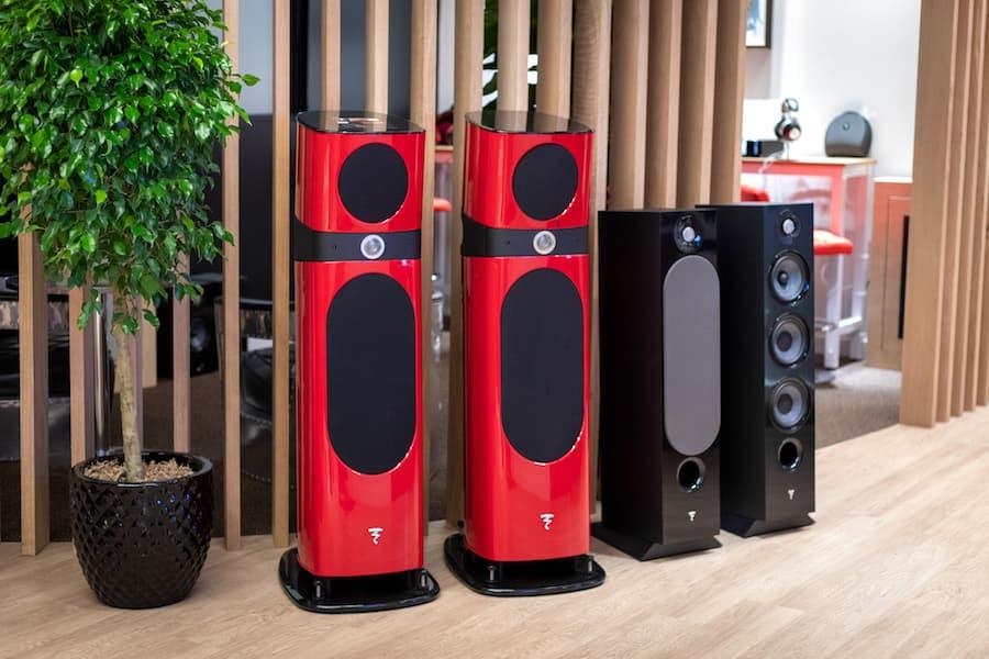 Focal red and black Loudspeakers