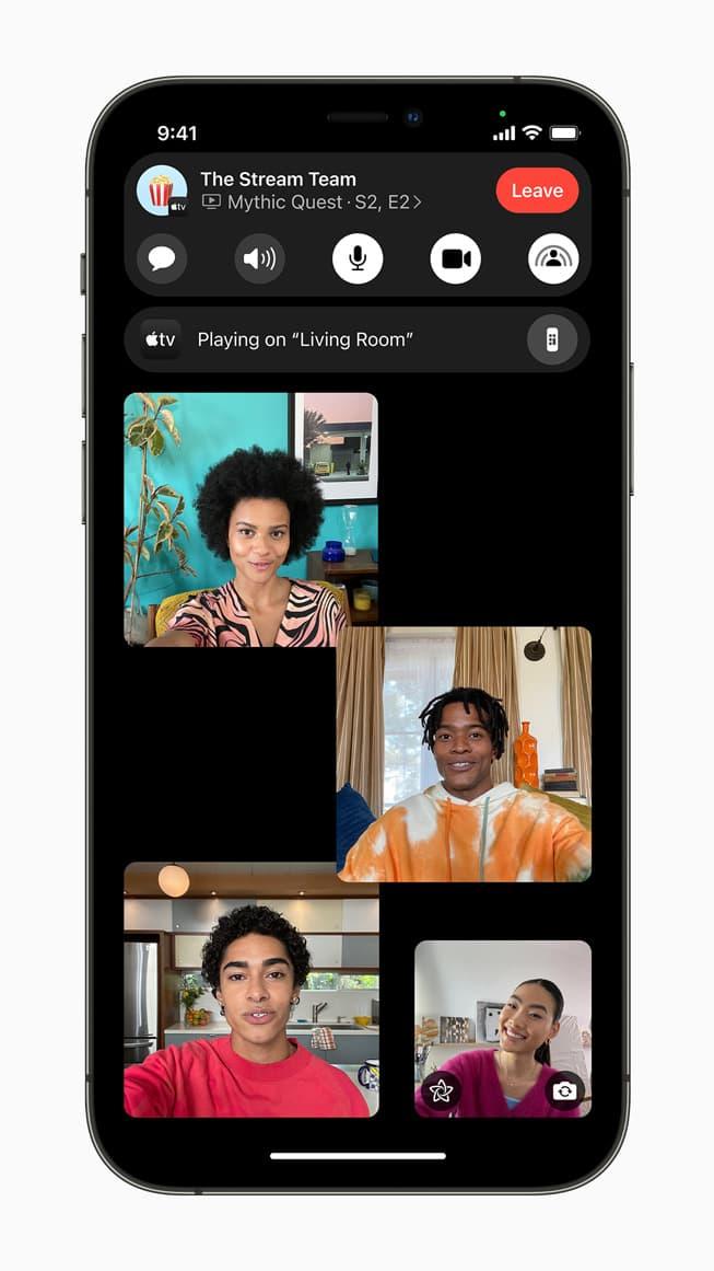 Apple FaceTime Group SharePlay