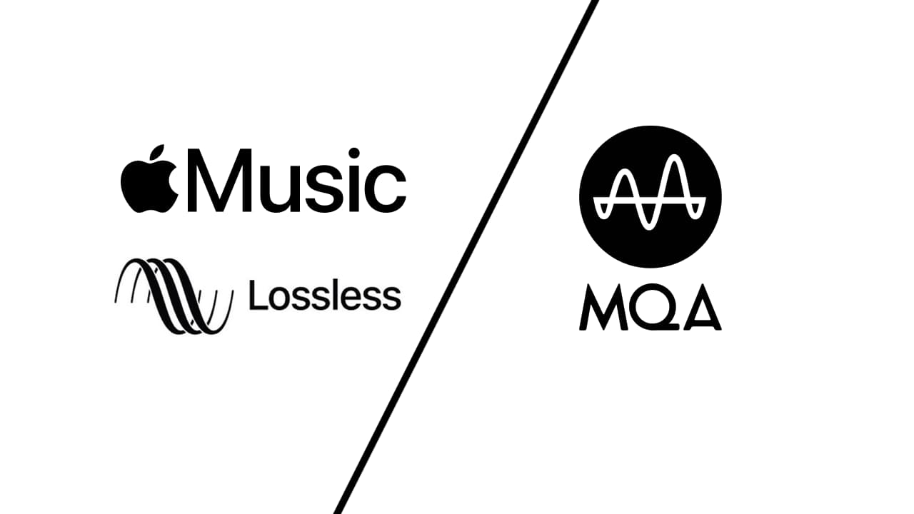 Apple Music Lossless MQA Logos