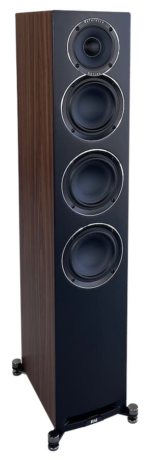 Elac Uni-Fi Reference UFR52 speaker front in walnut and black