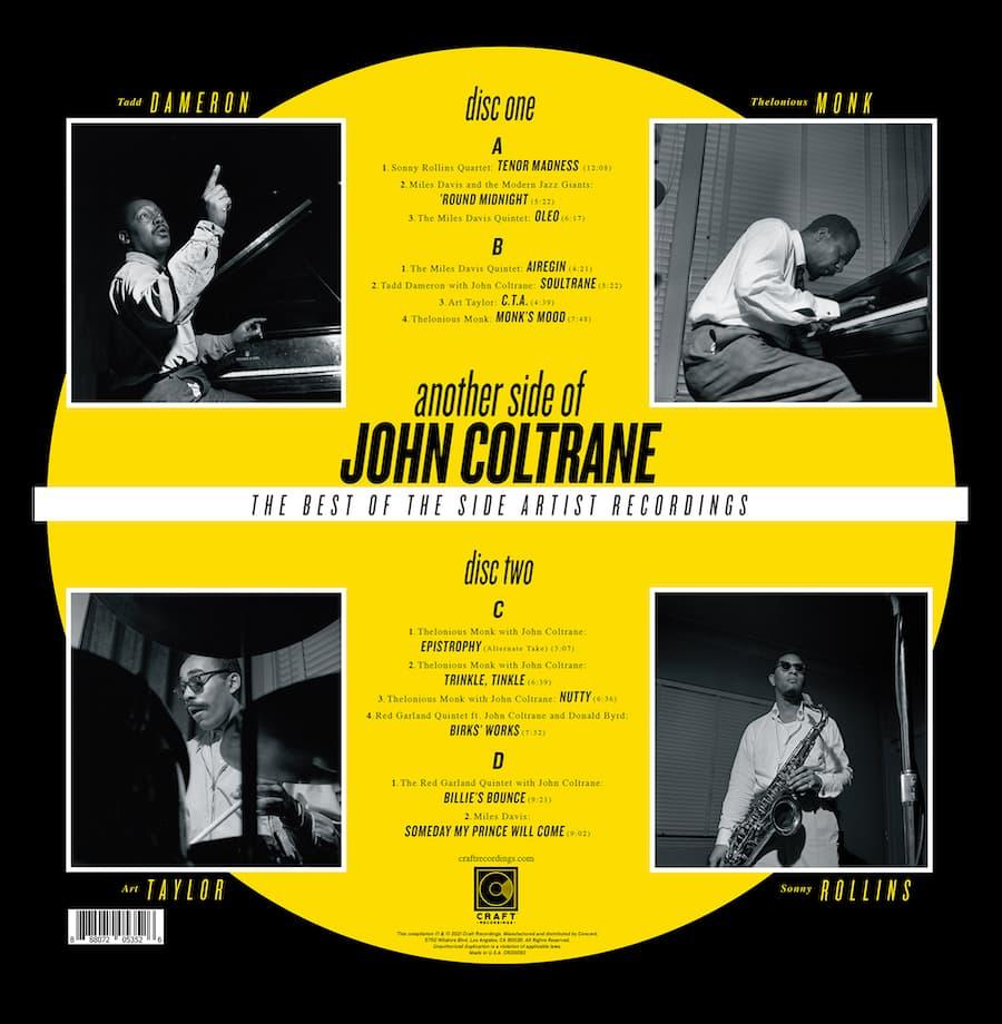 Another Side of John Coltrane Album Back Cover