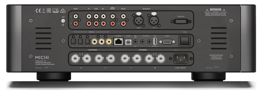 Rotel Michi X3 Integrated Amplifier Back