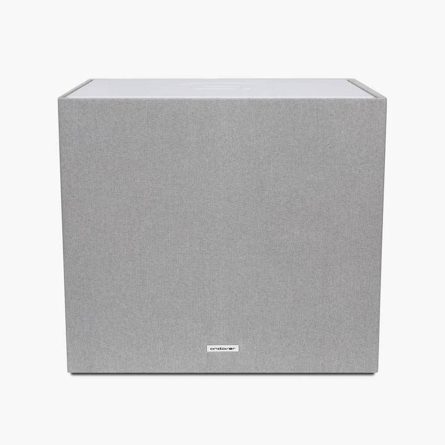 White Andover Audio SpinSub Subwoofer Front
