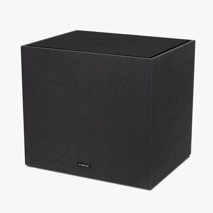 Black Andover Audio SpinSub Subwoofer Angle