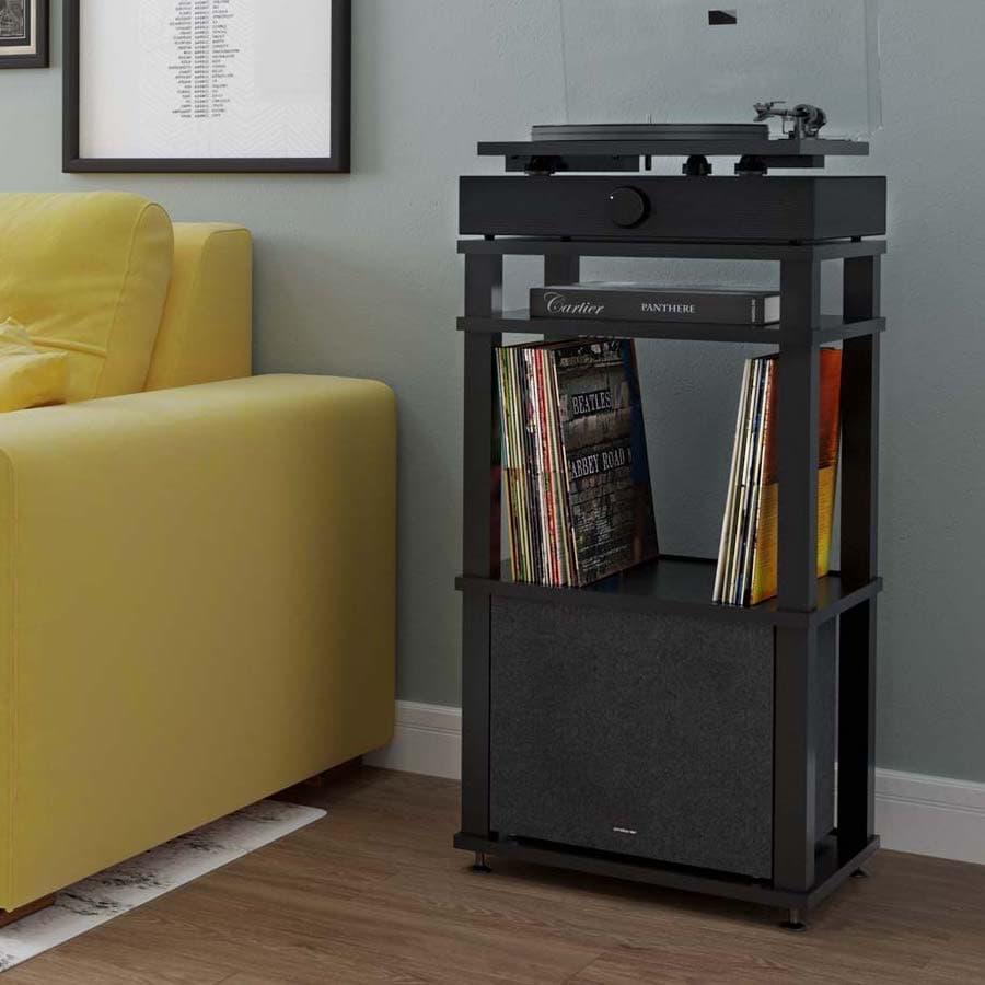 Andover Audio SpinDeck SpinBase SpinStand Spinsub Lifestyle Black