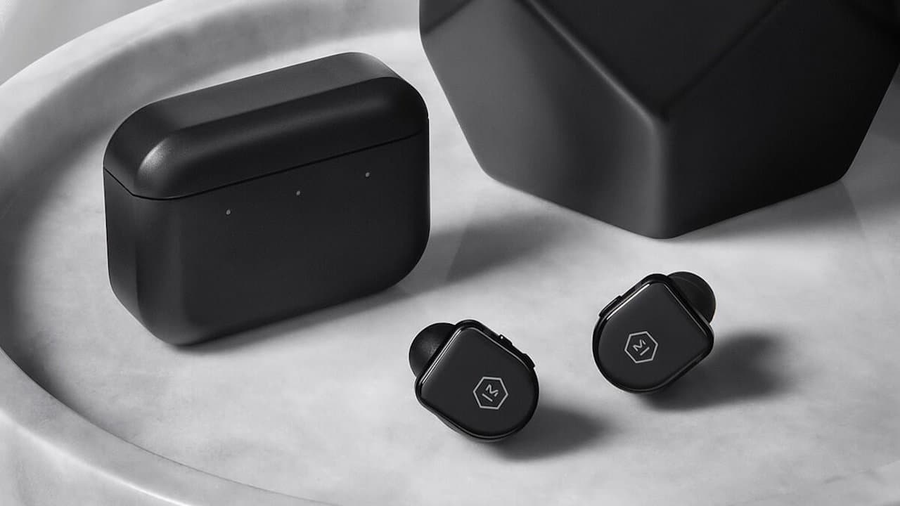 Master & Dynamic MW08 Wireless ANC Earphones with Charging Case Black