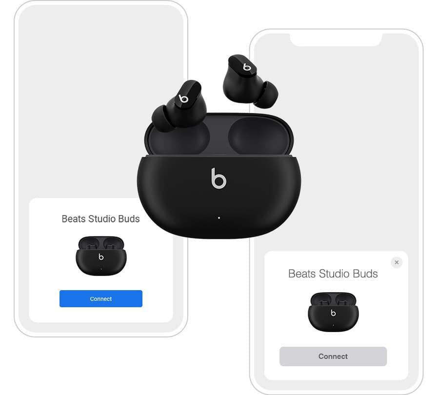 Black Beats Studio Buds iPhone Pairing