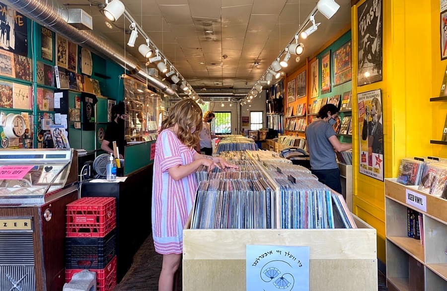 Customers Browsing at Hot Wax Kensington on Record Store Day