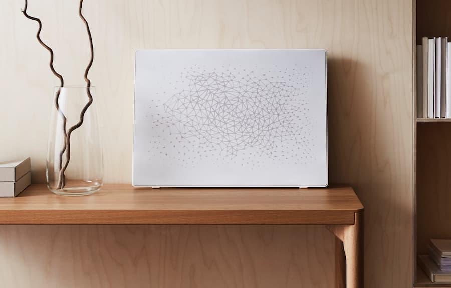 Symfonisk Picture Frame WiFi Sonos Wireless Speaker in white on table