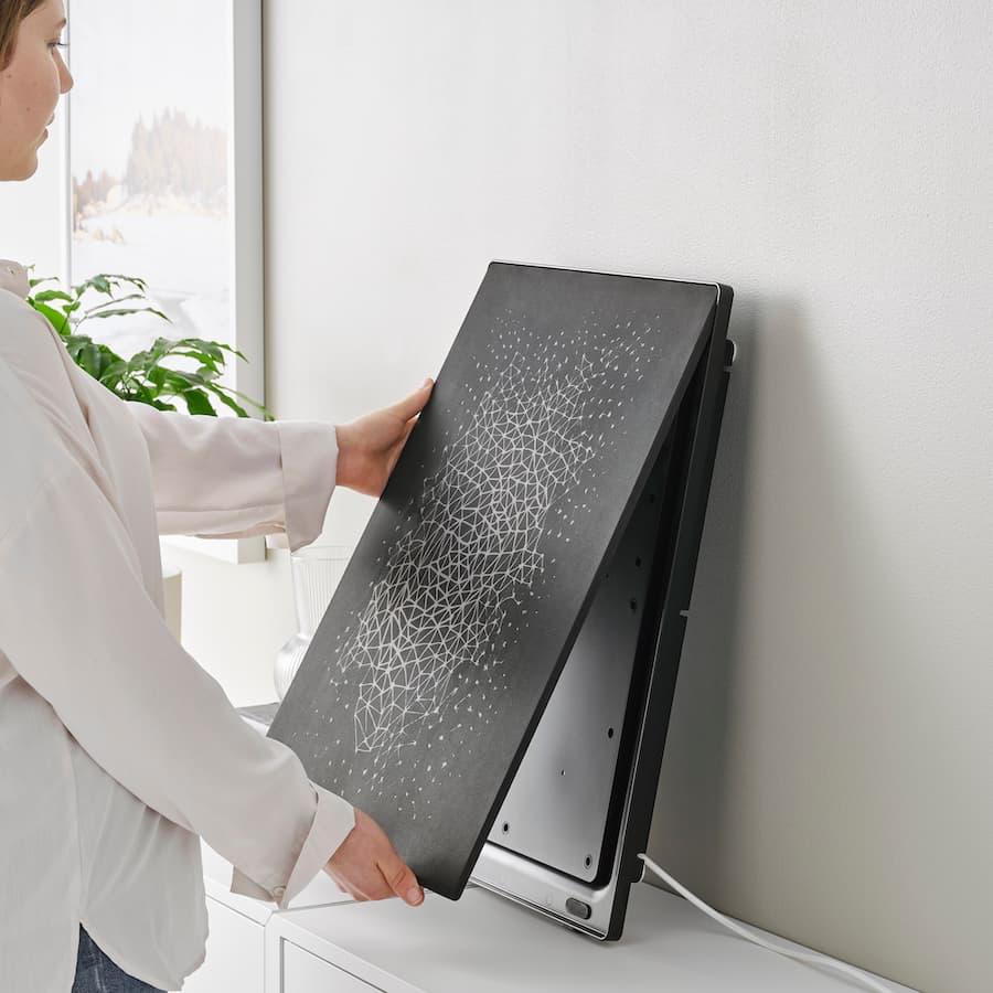 Symfonisk Picture Frame WiFi Sonos Wireless Speaker in black leaning on the wall