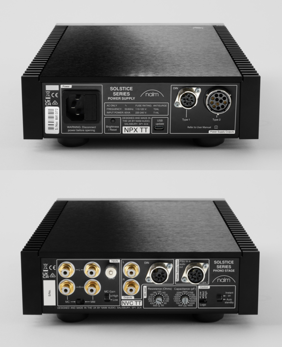 Naim Audio Solstice NPC TT Phono Stage and NPX TT Power Supply