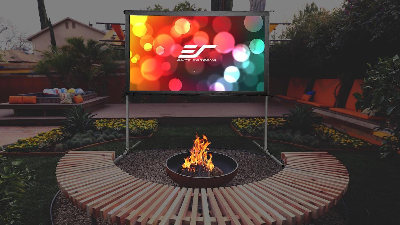 Elite Screens Backyard Movie Theater