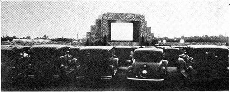 First Drive-in Movie Theater Camden, NJ 1933