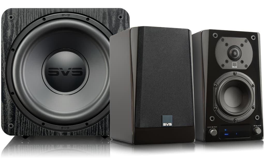 SVS Prime 2.1 Speakers with SB-1000 Pro Subwoofer Black Ash