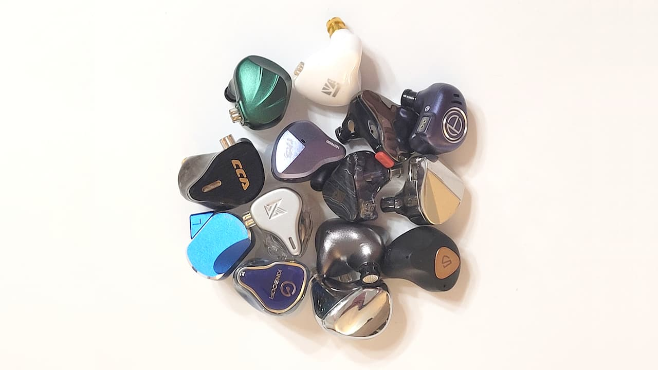 Collection of earphones made in China