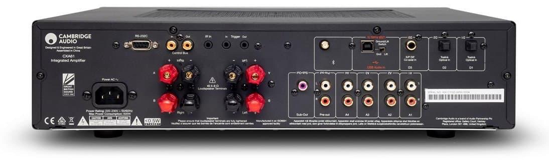 Cambridge Audio CXA61 Integrated Amplifier Rear