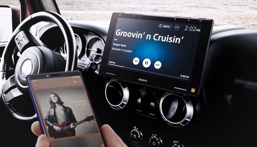 Sony XAV-9500ES In-Car Media Receiver Streaming Music