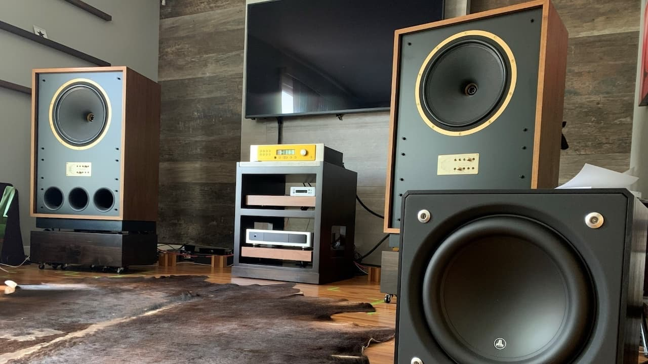 Tannoy Arden Loudspeakers with JL Audio Subwoofer
