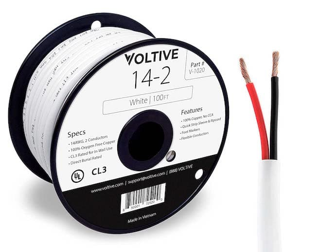 Voltive 14AWG CL3 Speaker Wire 100ft