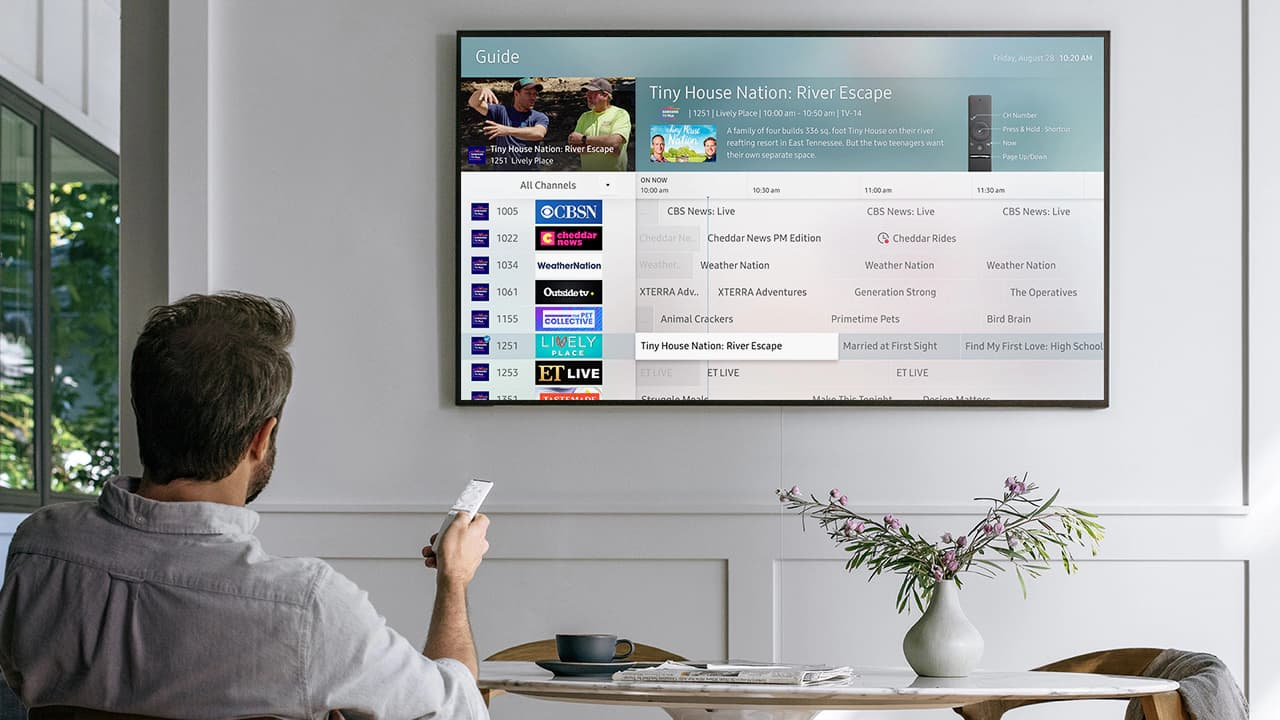 Samsung TV Plus Channel Guide Lifestyle