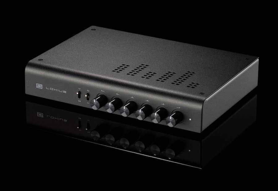 Schiit Audio Lokius EQ Front Angle Left in Black