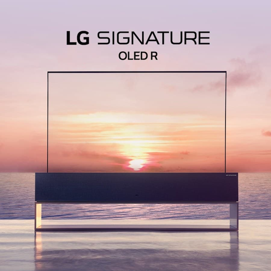 LG Signature Rollable OLED R TV