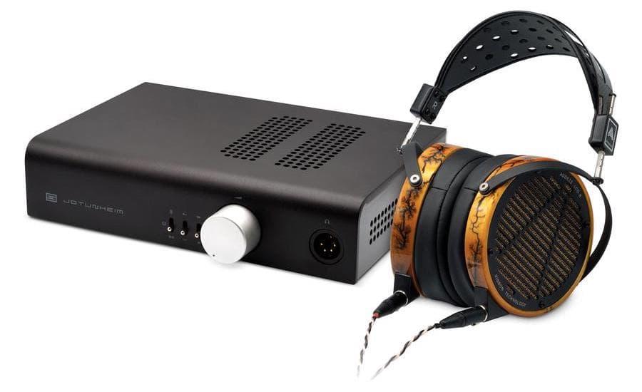 Audeze LCD R Headphones with Schiit Audio Jotunheim-A Amplifier