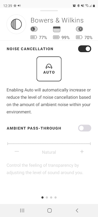 Bowers & Wilkins Noise Cancellation App