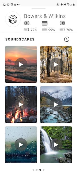Bowers & Wilkins Soundscapes App