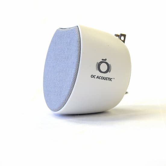 OC Acoustic Plug-in Bluetooth Speaker Silver White