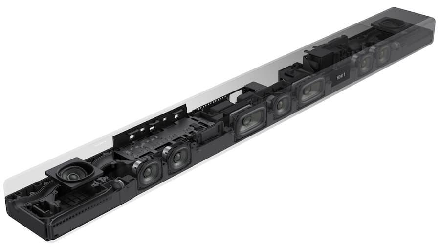 Sony HT-A7000 Dolby Atmos Soundbar Internal Speakers
