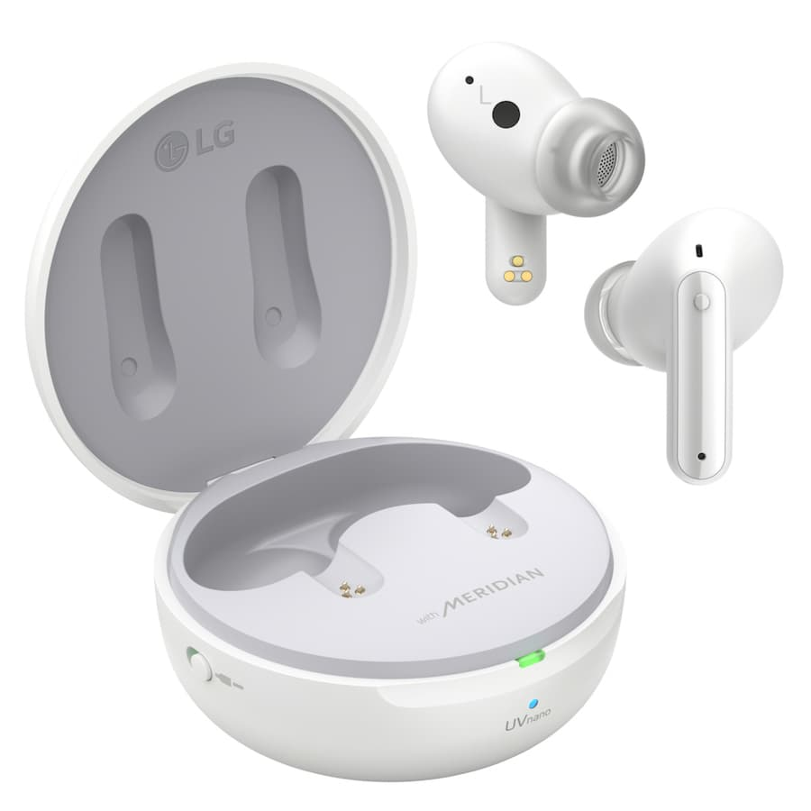 LG TONE FREE FP9 UV Wireless Earbuds With Pearl White Charging Case