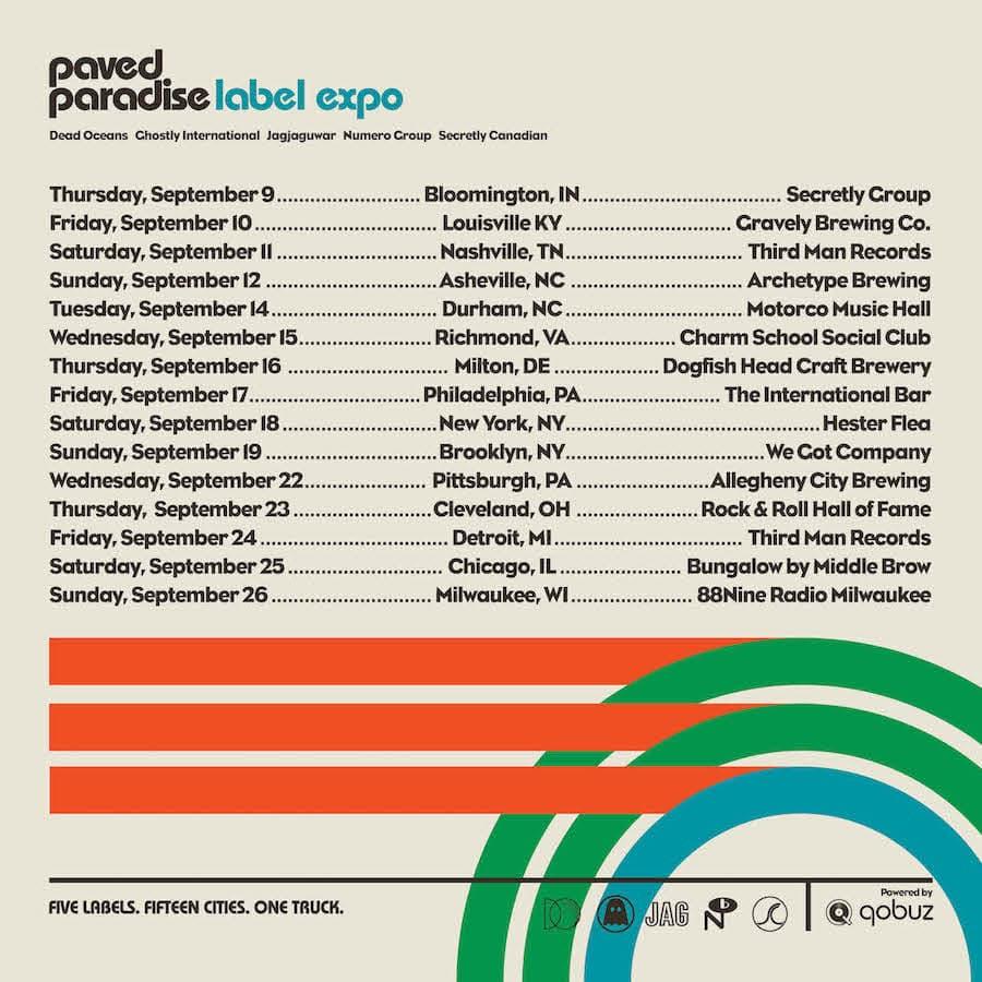 Paved Paradise Label Expo Tour Dates
